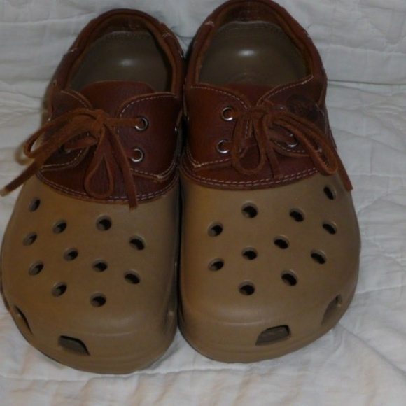 973821ff11203f CROCS Other - Crocs ISLANDER m sz 8 or w sz 10 leather upper
